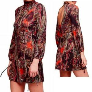 Free People All Dolled Up Paisley High-Neck NWT